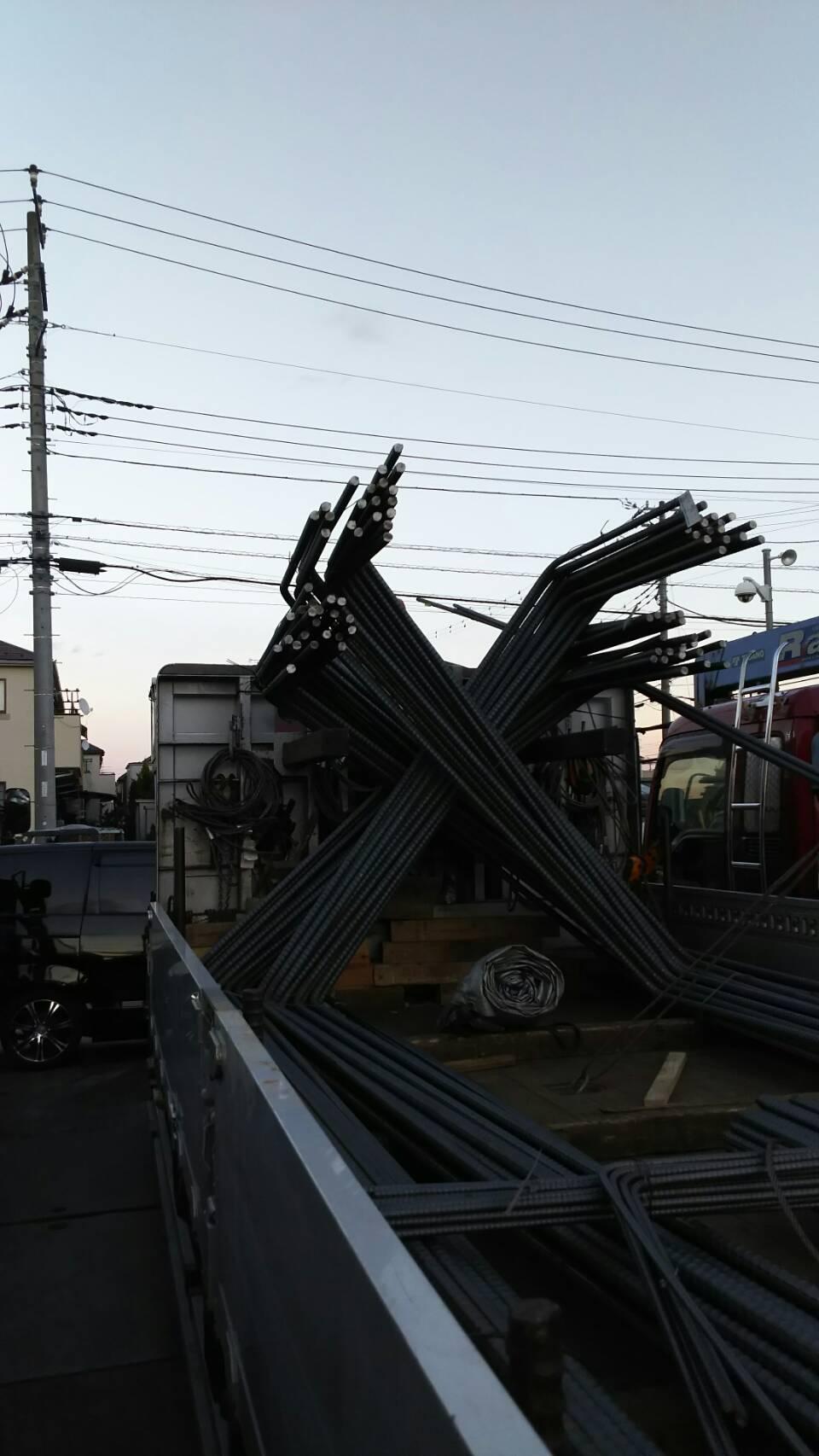 本日の運搬日誌 鉄筋 7tユニック車